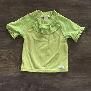 Janie and Jack Lime Green Rash Guard